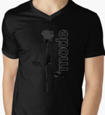 Mode Rose Black Men's V-Neck T-Shirt