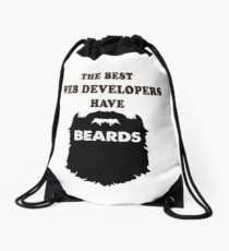 Wed Developer Programmer gift beards tees shirts Drawstring Bag
