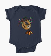 Lazy Sloth And Butterfly Funny Forest Nature Willows Kids Clothes