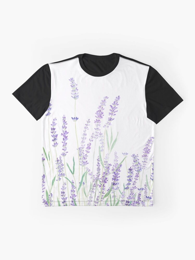 Alternate view of purple lavender  Graphic T-Shirt