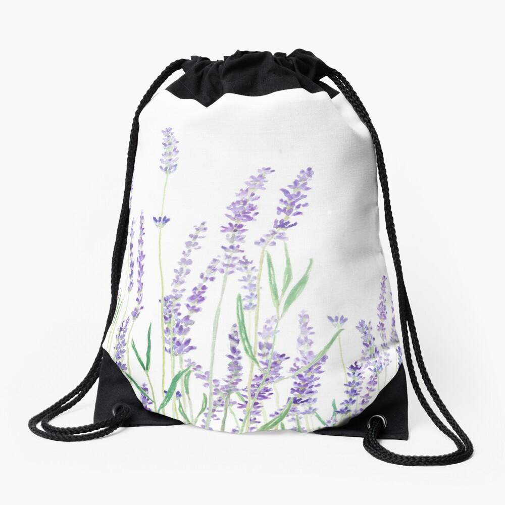 purple lavender  Drawstring Bag