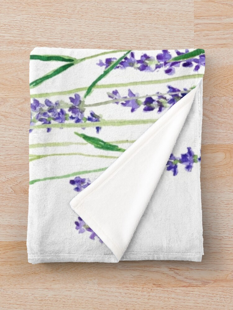 Alternate view of purple lavender  Throw Blanket