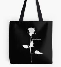 Enjoy the Silence style Rose white Tote Bag