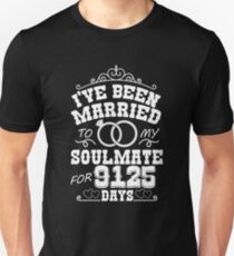 25th Wedding Anniversary Tshirts. Couples Gifts T-Shirt