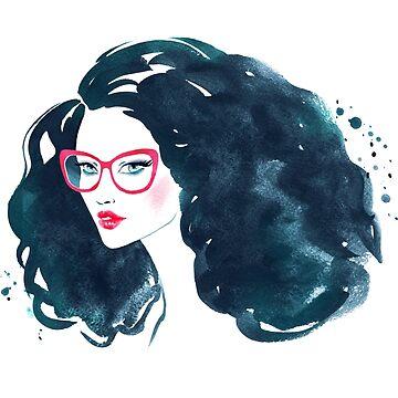 Watercolor fashion illustration by Sofia-G