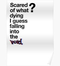 Falling into the void. Poster