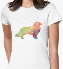 Longhaired dachshund  Women's Fitted T-Shirt