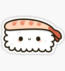 Cute prawn sushi Sticker