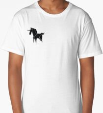 Origami Unicorn Black Long T-Shirt