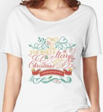 Have Yourself A Merry Little Christmas Love Typography Relaxed Fit T-Shirt
