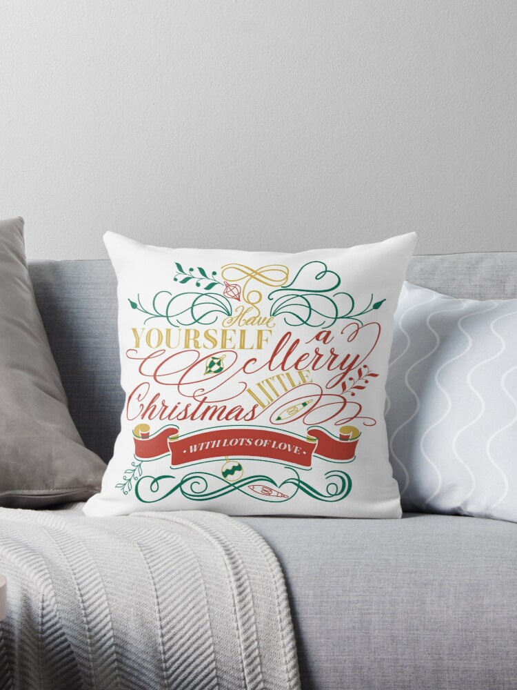 Have Yourself A Merry Little Christmas Love Typography by Beverly Claire Kaiya