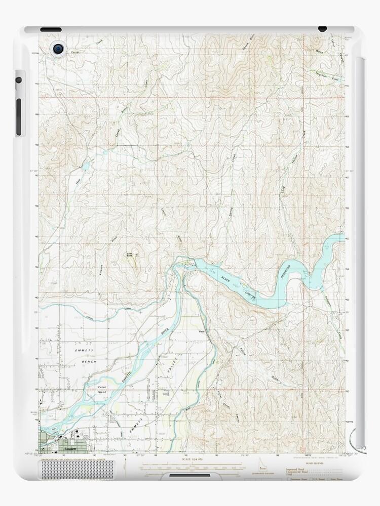 USGS TOPO Map Idaho ID Northeast Emmett 237424 1985 24000 by wetdryvac