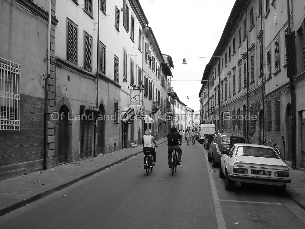Cycling in Pisa, Italy  by Of Land & Ocean - Samantha Goode