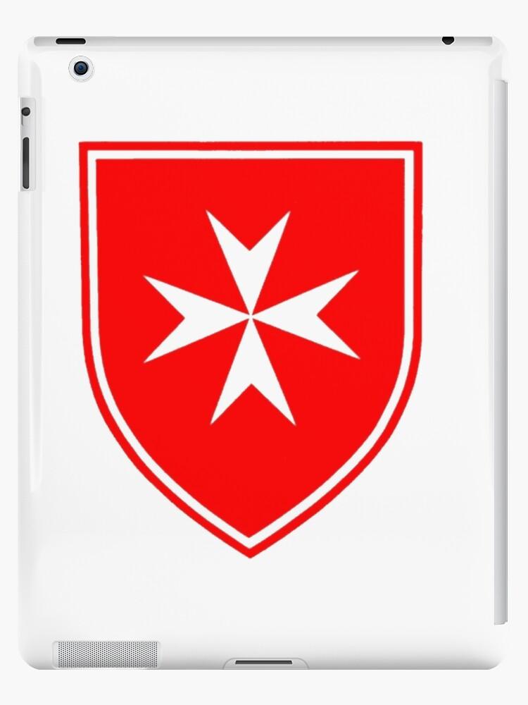 Knights Hospitaller Symbol Shield Templar T Shirt Ipad Cases