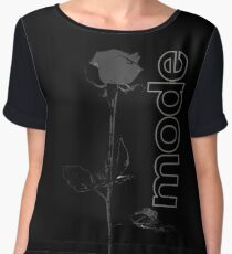 Mode Rose Black Chiffon Top