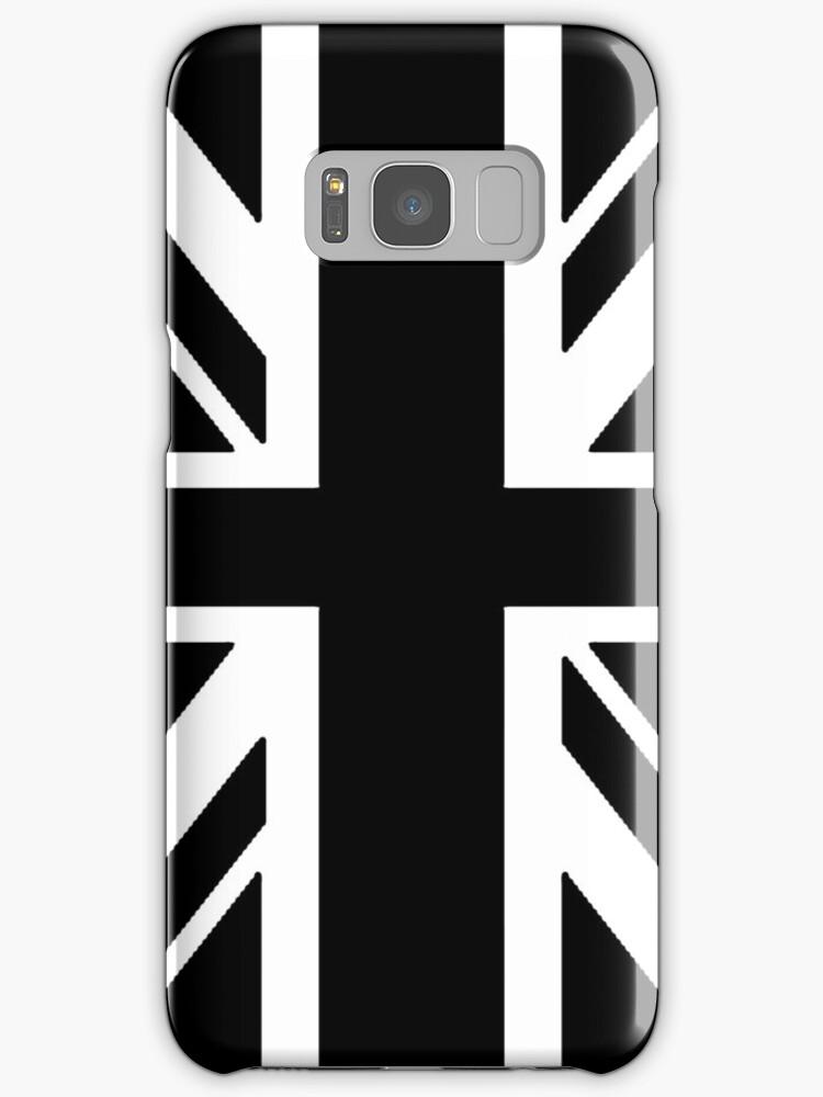BRITISH, UNION JACK, FLAG, UK, GB, UNITED KINGDOM, PORTRAIT, IN BLACK by TOM HILL - Designer