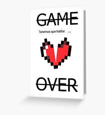 GAME OVER (con mensaje) Greeting Card