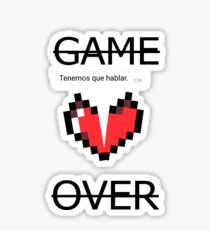 GAME OVER (with message) Sticker