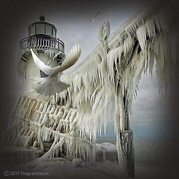 Icy Lighthouse by thegrafaxspot