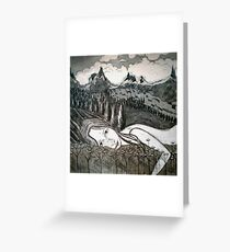 Amy's Travels - Aquatint Etching Greeting Card