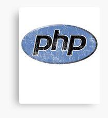 Vintage PHP Programmer Canvas Print