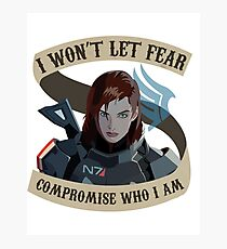 Paragon Shepard Mass Effect Photographic Print