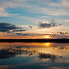sunset over a finnish lake by Hannele Luhtasela-el Showk