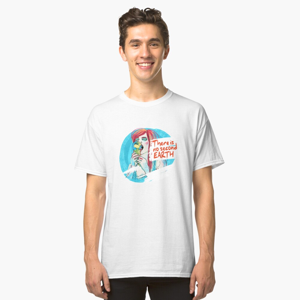 No second Earth Classic T-Shirt Vorne