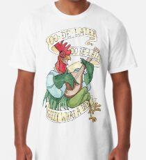 Camiseta larga Alan-A-Dale Gallo: OO-De-Lally Golly Qué día tatuaje Acuarela Robin Hood