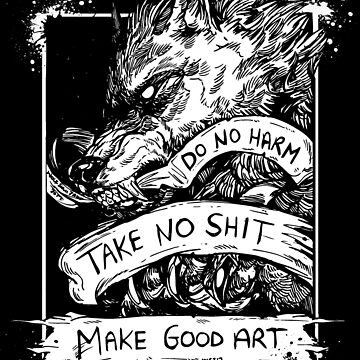Do no Harm- Black tee by WOLFSKULLJACK