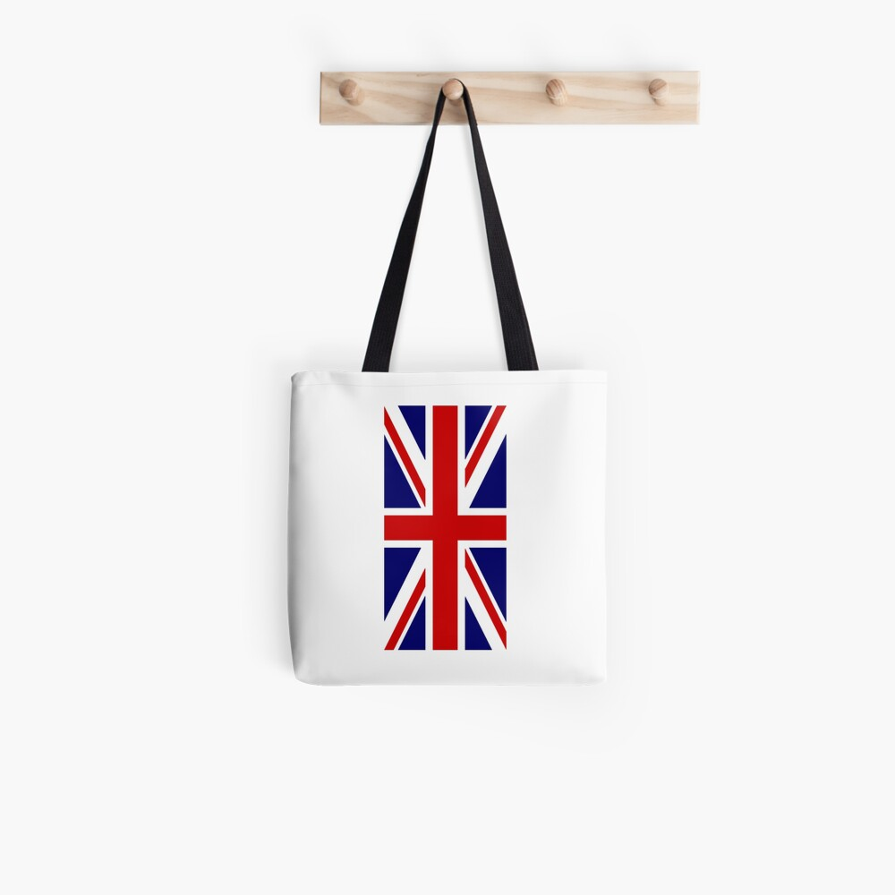 British, Union Jack, PORTRAIT, Flag, 1;2, UK, GB, United Kingdom, Pure & simple  Stofftasche