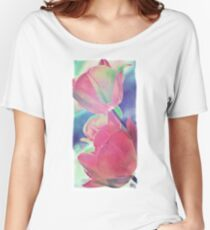 Colorful Tulip Photography-Art Women's Relaxed Fit T-Shirt
