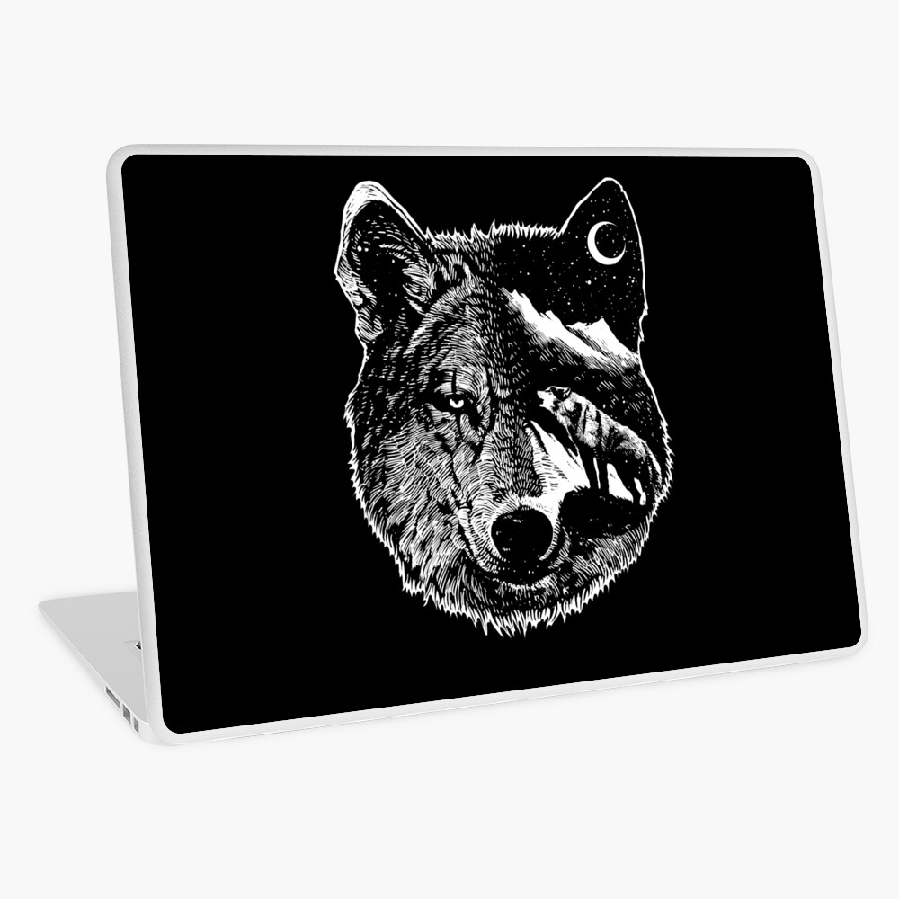 Night wolf Laptop Skin