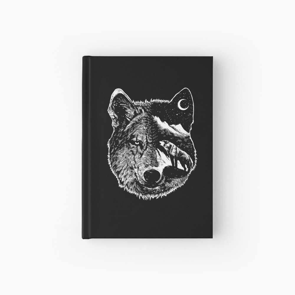 Night wolf Hardcover Journal