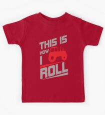 This is how I roll - tractor Kids Tee