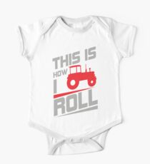 This is how I roll - tractor Kids Clothes