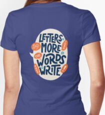 Letters say more than the words they write Fitted V-Neck T-Shirt