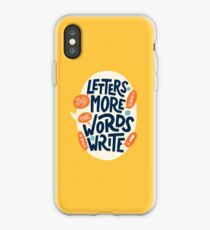 Letters say more than the words they write iPhone Case