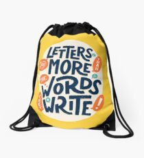 Letters say more than the words they write Drawstring Bag