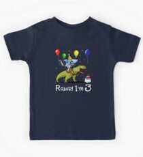 Rawr Kids 3rd Birthday Shark Riding T-Rex Dinosaur Kids Clothes