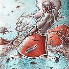 Woman in water by Sebastiaan Koenen
