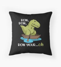 T-Rex Row Your Boat Dinosaur Short Arms Funny Throw Pillow