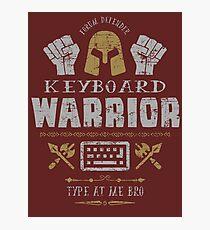 Keyboard Warrior Photographic Print