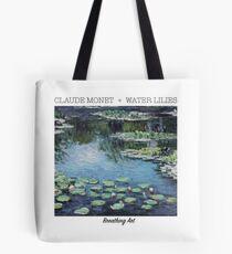 Breathing Art   Claude Monet, Water Lilies Blue Tote Bag