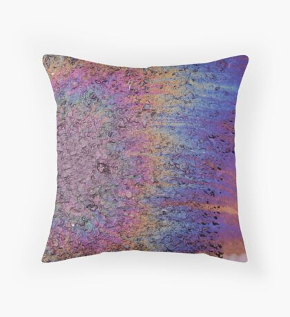 Oil Stain Throw Pillow