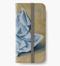 Crumpled Paper iPhone Wallet/Case/Skin