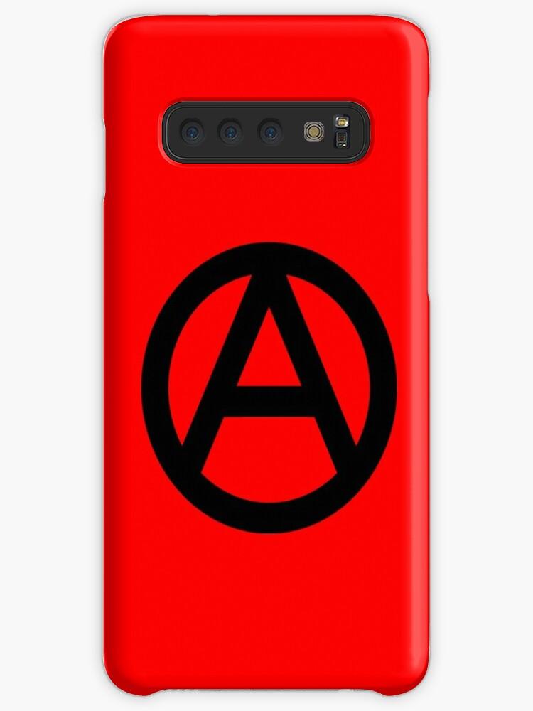 'ANARCHY, Anarchist, Revolution, Rebellion, Revolt, Protest, Unrest,  Disorder, Symbol, in black' Case/Skin for Samsung Galaxy by TOM HILL -  Designer