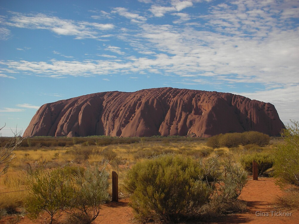Uluru - Ayers Rock by Gina Tickner
