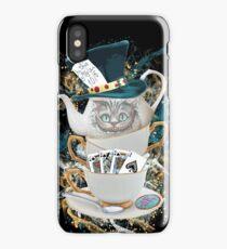 Alice in Wonderland Mad hatter Cheshire Cat iPhone Case/Skin