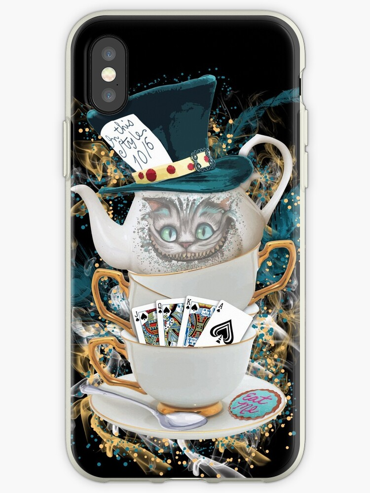 coque iphone xr chat cheshire